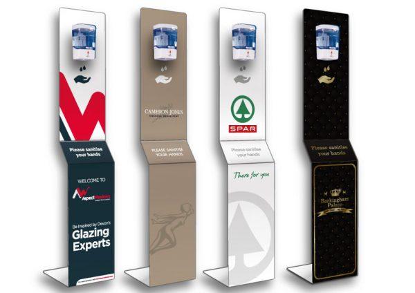 Branded hand sanitiser stations